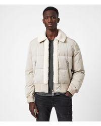 AllSaints - Gowers Sherpa-lined Puffer Jacket - Lyst