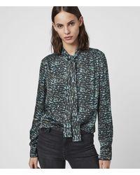 AllSaints Toni Plume Shirt - Green