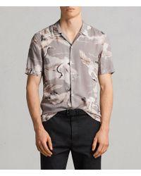 AllSaints - Romaji Short Sleeve Shirt - Lyst