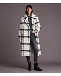 AllSaints Women's Mabel Check Coat - White