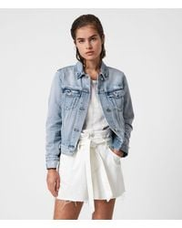 AllSaints Hay Denim Jacket - Blue