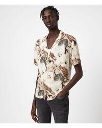 AllSaints - Men's Akita Short Sleeve Shirt - Lyst