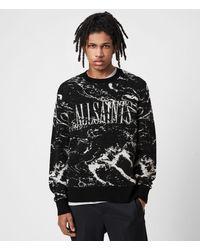 AllSaints Marble Saints Crew Sweater - Black