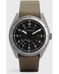 AllSaints Comfortable Subtitled Gmt Ii Nylon Watch - Gray