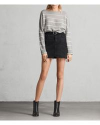 AllSaints - Bette Buckle Skirt - Lyst