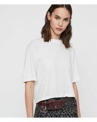AllSaints - Agnes Leather Belt - Lyst