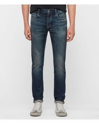 AllSaints Rex Slim Jeans, Mid Indigo - Blue
