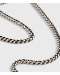 AllSaints Curb Sterling Silver Chain - Metallic
