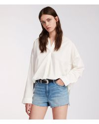 AllSaints - Nyla High-waisted Shorts - Lyst