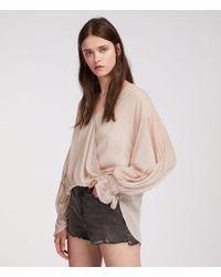 AllSaints - Hattie Stripe Top - Lyst