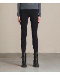 AllSaints Women's Cotton Essential Bri High-rise Leggings - Black