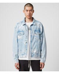 AllSaints - Men's Cotton Denby Denim Jacket - Lyst
