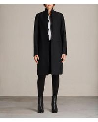 AllSaints - Mae Ruffle Coat - Lyst