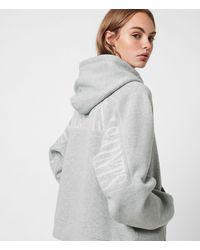 AllSaints Women's Cotton Graphic Print Talon Long Sleeve Hoodie - Grey