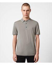 AllSaints - Men's Mode Merino Short Sleeve Polo Shirt Calke Green Size: Xs - Lyst