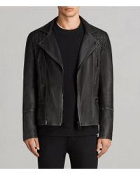 AllSaints | Cargo Leather Biker Jacket Usa Usa | Lyst