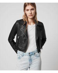 AllSaints Women's Leather Elora Biker Jacket - Black
