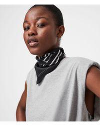 AllSaints Women's Freedom Silk Bandana - Black