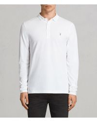 AllSaints - Reform Long Sleeved Polo Shirt - Lyst