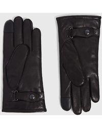 AllSaints Yield Leather Glove - Black