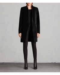 AllSaints - Leni Velvet Coat - Lyst
