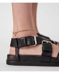 AllSaints Chain Mix Anklet Womens - Metallic