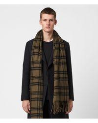 AllSaints Ash Wool Blanket Scarf - Green
