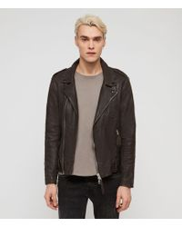 AllSaints - Vixon Leather Biker Jacket - Lyst