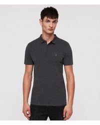 AllSaints - Brace Polo Shirt - Lyst