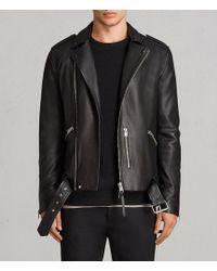 AllSaints - Kaho Leather Biker Jacket - Lyst
