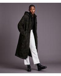 AllSaints Women's Indra Camo Parka Coat - Black