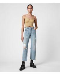AllSaints April High-rise Boyfriend Jeans - Blue