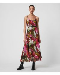 AllSaints Essie Expressive Dress - Pink