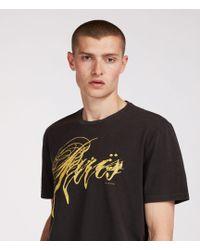 AllSaints - Paris Crew T-shirt - Lyst