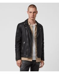 AllSaints Tyson Leather Biker Jacket - Black