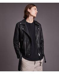 AllSaints Dren Leather Biker Jacket - Black