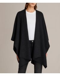 AllSaints Nargo Wrap Shawl - Black