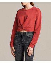 AllSaints - Paloma Cropped Sweatshirt - Lyst