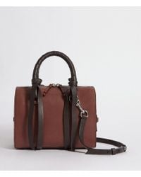 AllSaints - Voltaire Small Leather Bowling Bag - Lyst