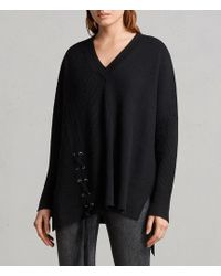 AllSaints - Able Laced Sweater - Lyst