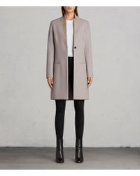 AllSaints - Leni Coat Usa Usa - Lyst