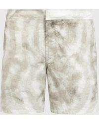 AllSaints Men's Tucker Tie Dye Swim Shorts - Grey