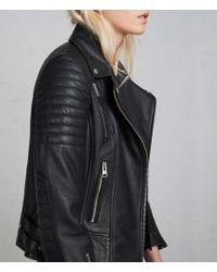 AllSaints - Papin Leather Biker Jacket - Lyst