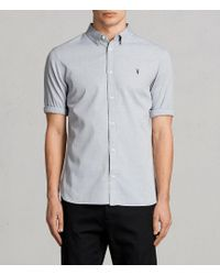 AllSaints - Redondo Half Sleeved Shirt - Lyst