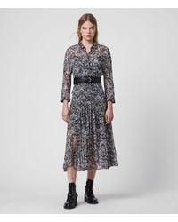 AllSaints Eley Mara Dress - Blue