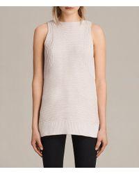 AllSaints - Arleta Knitted Vest - Lyst