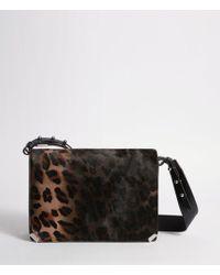 AllSaints - Vincent Leather Shoulder Bag - Lyst