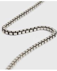 AllSaints Roan Chain Necklace Mens - Metallic