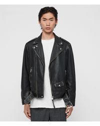 AllSaints - Hawley Leather Biker Jacket - Lyst