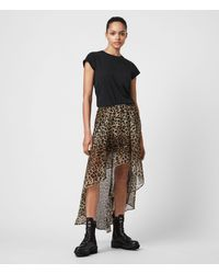 AllSaints - Slivina Leppo Skirt - Lyst